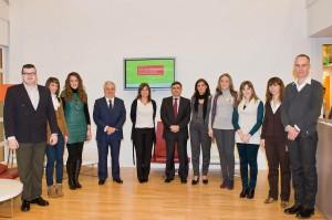 """Foto de los premiados en la V edición de premios """"Construye un mundo nuevo"""" de la Fundación Vodafone España"""
